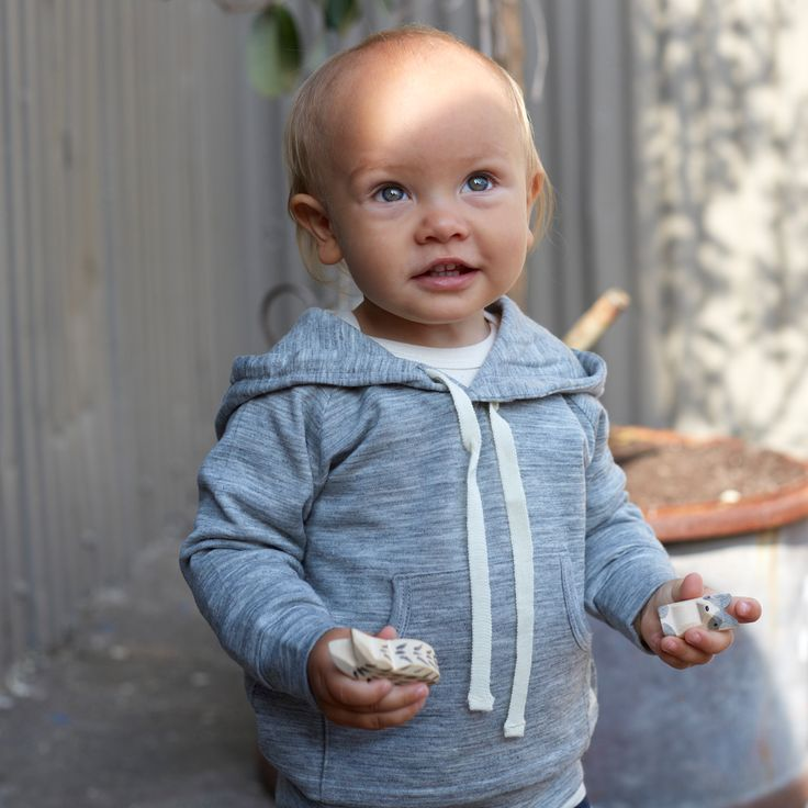 Merino V Neck Hoodie | Natural Organic Bio Baby Products: Organic Cotton & Merino Wool