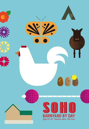 natalie schaefer poster: for aprils soho summer event - love these posters