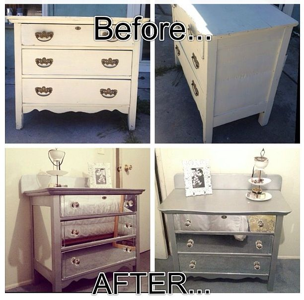 DIY Mirror Dresser upgrade From Trash To Treasures