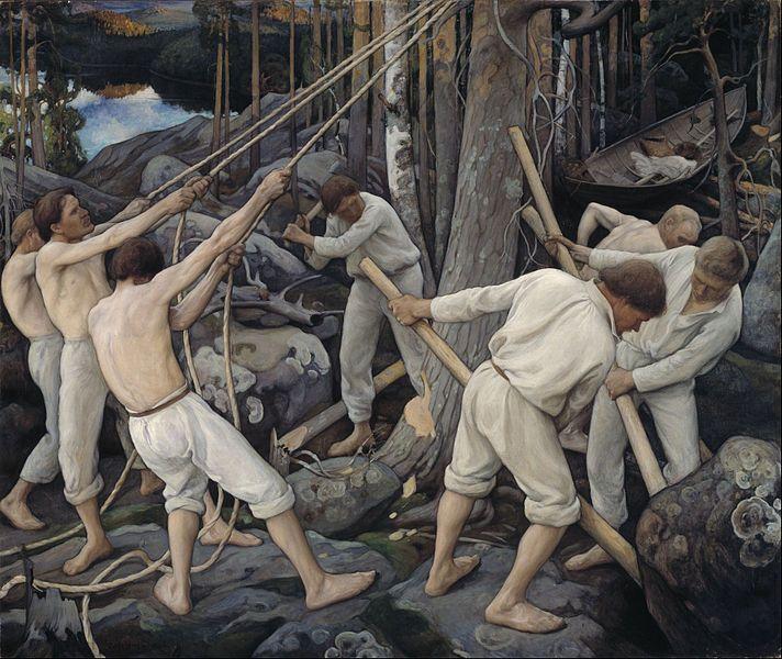 File:Pekka Halonen - Pioneers in Karelia - 1900