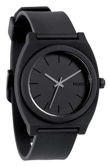 The Time Teller by Nixon in Black: Analog Clocks, Time Teller, Black Nixon, Nixon Watches, Teller Watches, Styles, Black Watches, Matte Black, Nixon Time
