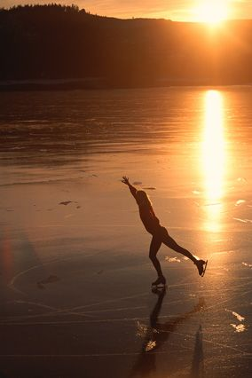 I have this dream, to go skating on a pond. Just once in my life. I love the rink but the ice, in any form, is my home.