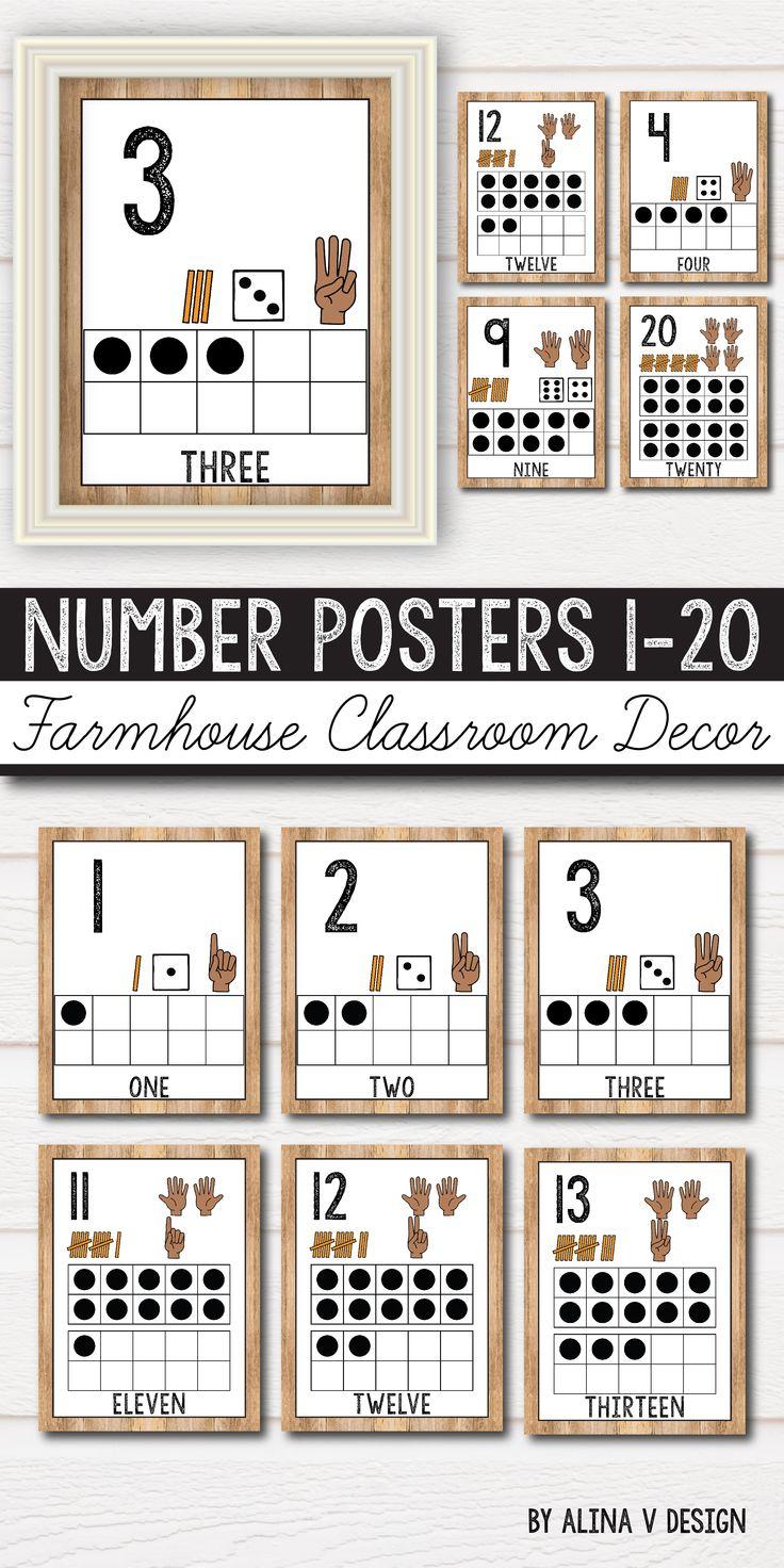 Classroom Decor Numbers ~ Best kindergarten posters ideas on pinterest class