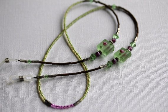 Eyeglass Lanyard Eyeglass Necklace Mint Green by MaetriStudio, $23.95