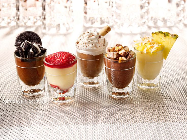 Tgi Fridays Dessert Mini 39 S Desserts In A Shot Glass