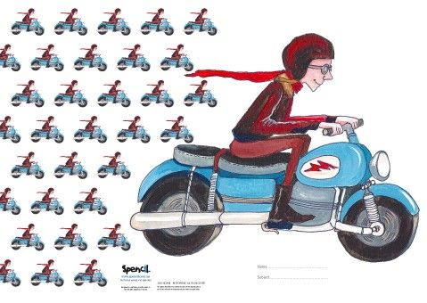 Gum Drops Boys Exercise Book Covers - Motorbike