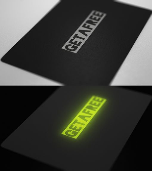 16 best glow in the dark business cards images on pinterest 50 incredibly clever business card designs reheart Gallery