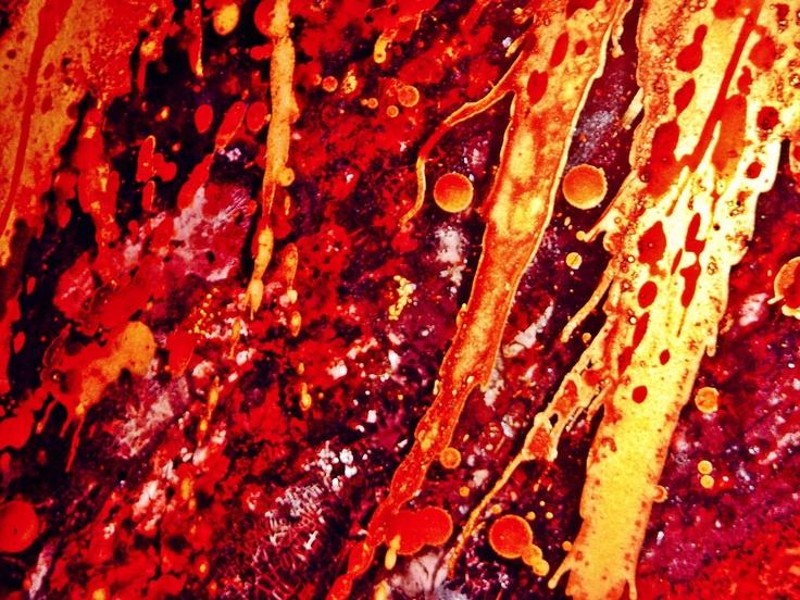 jordan eagles blood painting