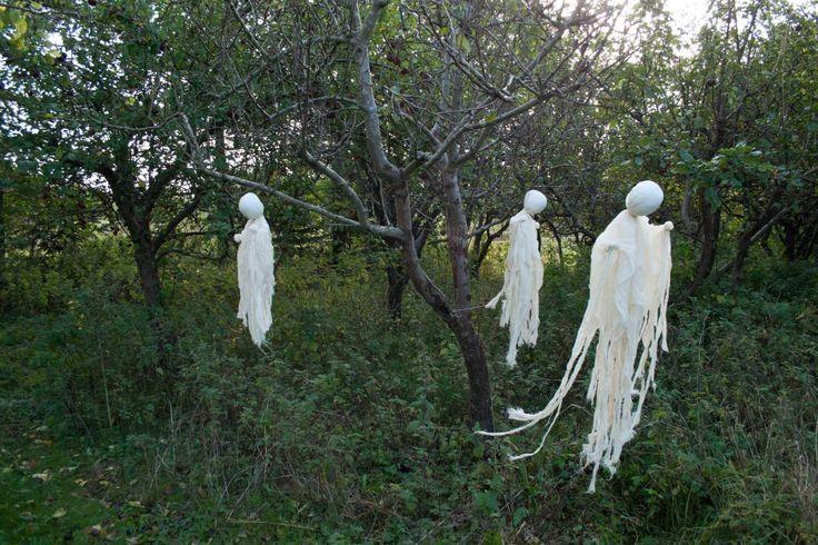 Halloween DIY spøgelser