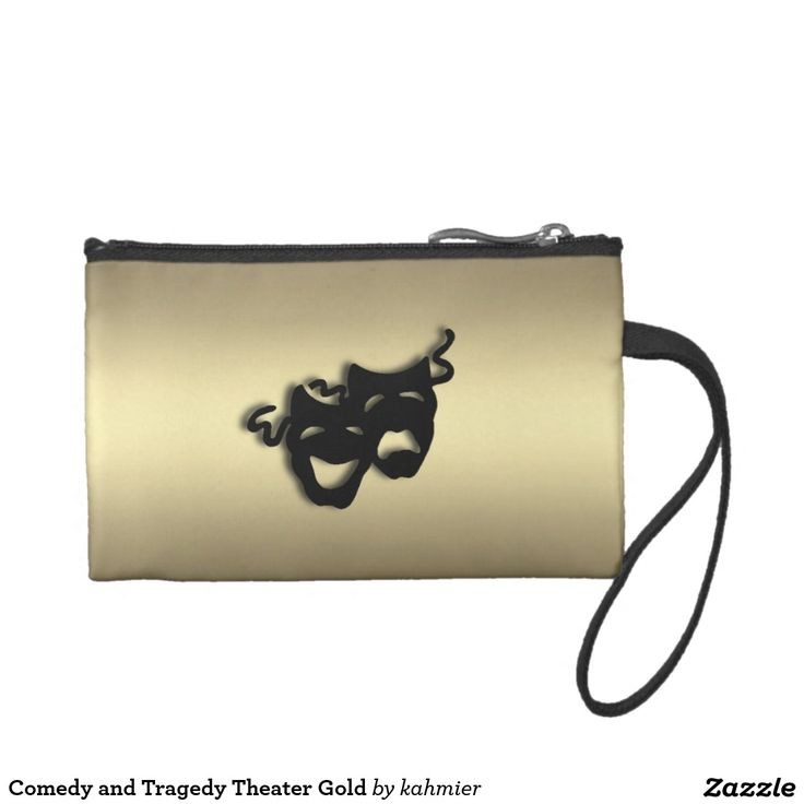 Comedy and Tragedy Theater Gold Coin Purse