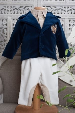 """British style christening outfit for baby boys and toddlers: """"Thomas""""."""