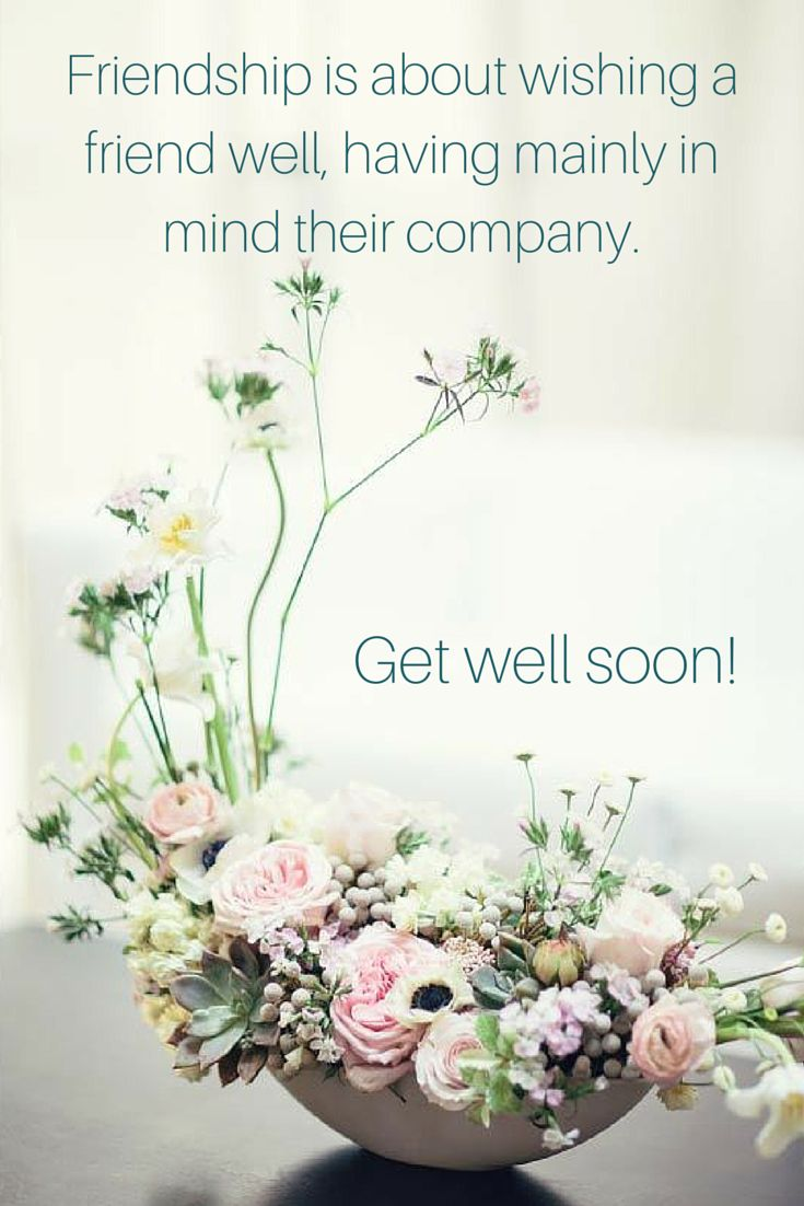 Best 25 get well soon flowers ideas on pinterest get well soon friendship is about wishing a friend well having their company mainly in mind get well soon dhlflorist Images