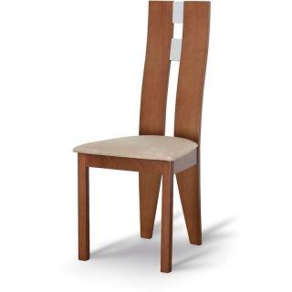 Drevená stolička BONA, čerešňa/látka béžová