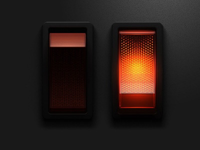 lighted rocker switch graphic
