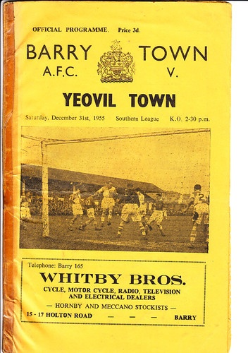 Yeovil Town (H), New Year's Eve 1955.