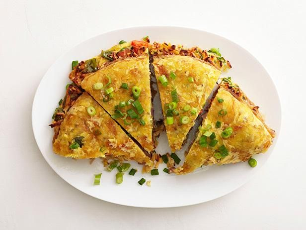 Get Western Hash Brown Omelet Recipe from Food Network