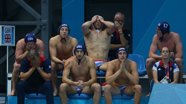 Men's Water Polo - Team GB reacts in match v Romania