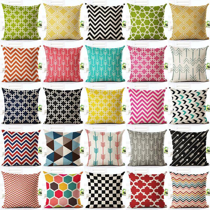 Bunte Geometrische Serie Bedruckte Bettwäsche Baumwolle Platz 45x45 cm Wohnkultur Haushaltswaren Dekokissen Kissen Cojines Almohadas