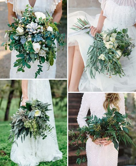Gorgeous Greenery & Herb Wedding Decoration Ideas | See more on www.onefabday.com