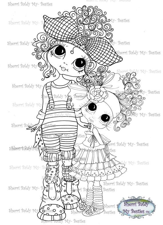 556 best adult color pages images on Pinterest Big eyes Digi