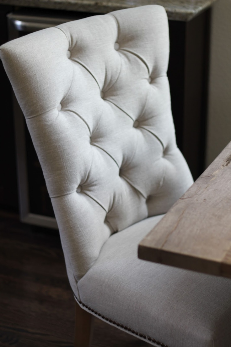 Veronika's Blushing- my new dining room chairs!
