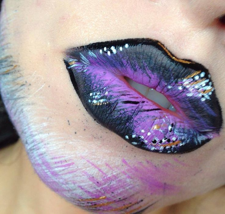 Gestural Abstraction Lip Art by Karla Powell