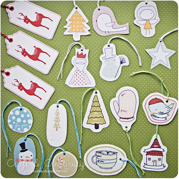 Dagens pyssel, julklappsetiketter -Craft of the Day, Christmas gift tags   Craft & Creativity