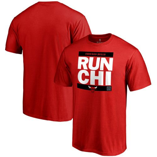 Chicago Bulls RUN-CTY T-Shirt - Red