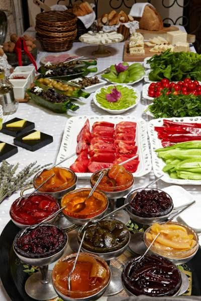 Turkish Breakfast -  Incirliev Hotel Alacati,Turkey