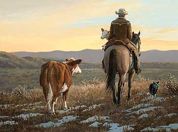 Almost Home-Cowboy by Persis Clayton Weirs  |  Wild Wings