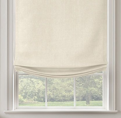 22 best images about roman shades on pinterest window for Restoration hardware window shades