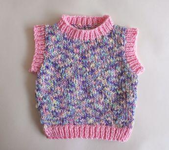 68222b1951d3d marianna s lazy daisy days  Moiselle chunky yarn sleeveless baby vest top  free…