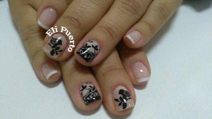 Diseño de uñas delicados Francesa Uñas decoradas