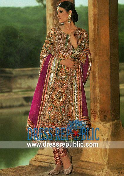 Mehndi Dresses Shalwar Kameez For Girls : Shalwar kameez with gota work salwar