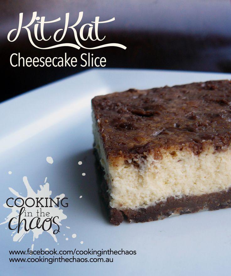 Kit-Kat Cheesecake Slice - Thermomix