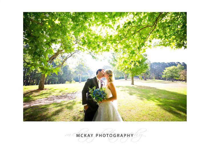 Liz & Mat's wedding under a sunlit tree at Gibraltar Hotel in Bowral, Southern Highlands  #wedding #bowral #gibraltarhotel #bowralwedding