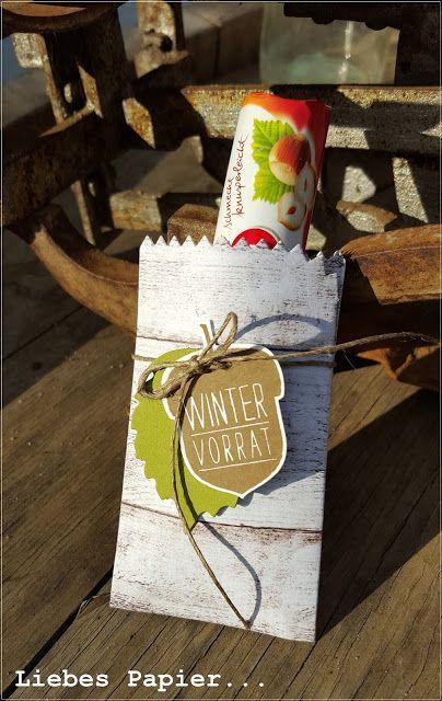 Liebes Papier...: Wintervorrat in der Leckereien-Tüte...