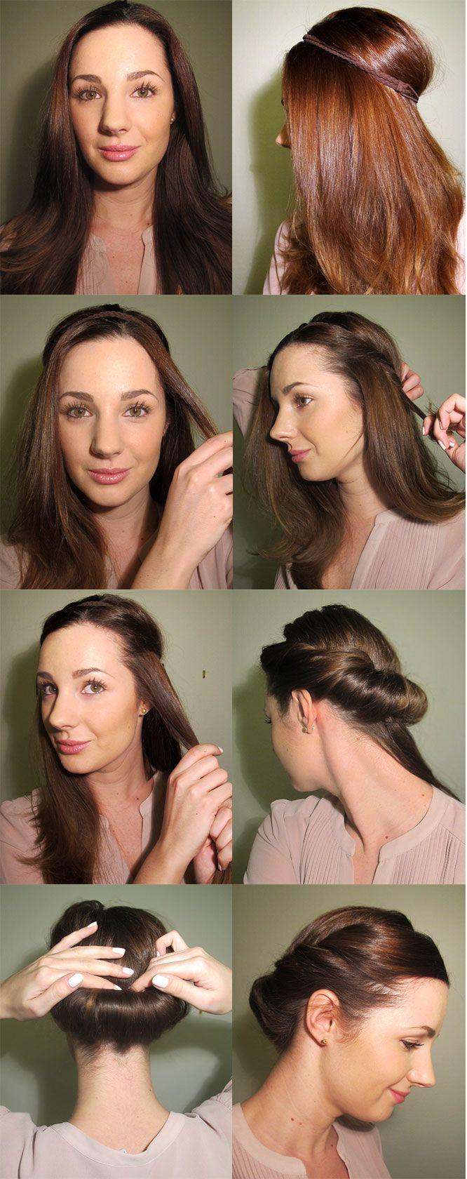 Bra tips på, vad det verkar, snabb och enkel håruppsättning.