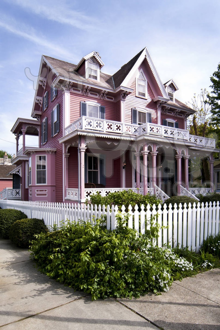 Image detail for -Royalty Free Image of Pink Victorian House