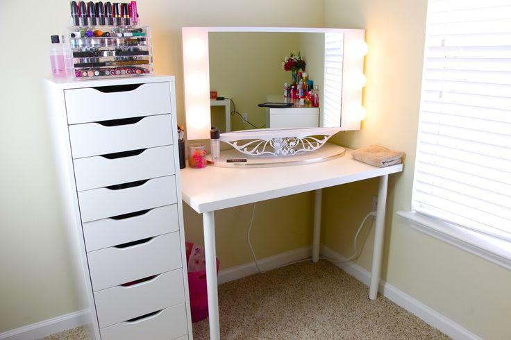 Greatest 257 best Makeup Vanity Ideas images on Pinterest | Bedroom ideas  MN51