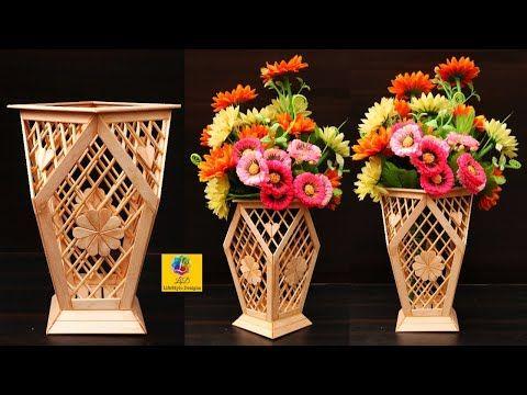 Ide Kreatif Vas Bunga Cantik Dari Tusuk Sate Ide Kreatif