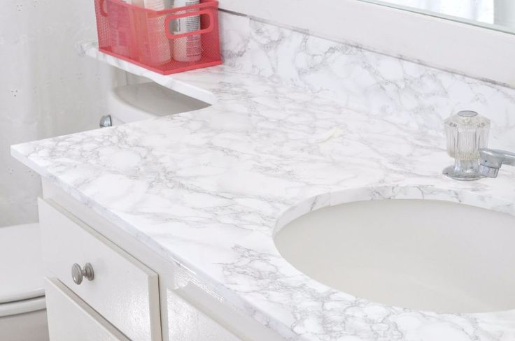 How to Update an Old Countertop to Look Like Beautiful Marble