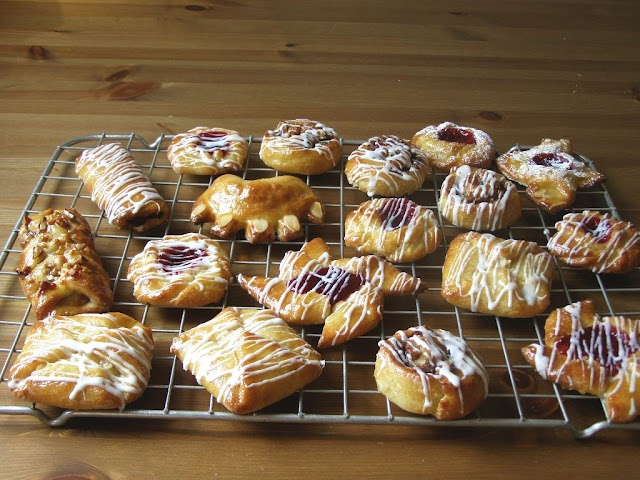 Pasteles daneses veganos   -   Vegan Danish pastries. Beautiful shapes