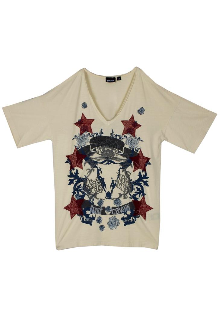 Rock and Casual T-shirt by Just Cavalli #GbModa ##MarinaMall #JustCavalli