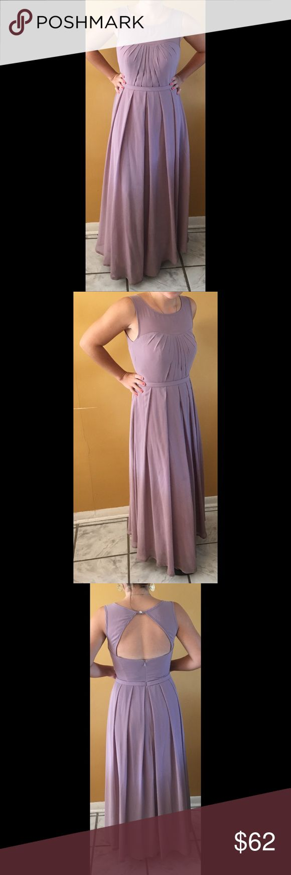 Azazie Ambrosia Bridesmaid Dress Size A6. 100% Polyester. Hemmed to accommodate my height of 5'2 with 3 in heels. Price reflects small stains that can be fixed with a dry clean. Azazie Dresses