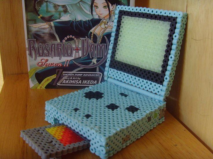 Gameboy Advance SP 3D perler beads by DarkLink021 on deviantart