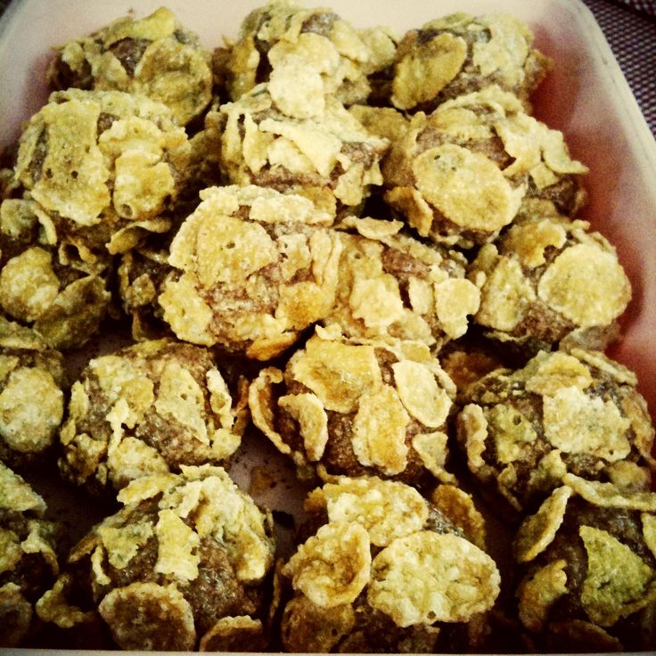 Salted caramel cornflakes rumballs