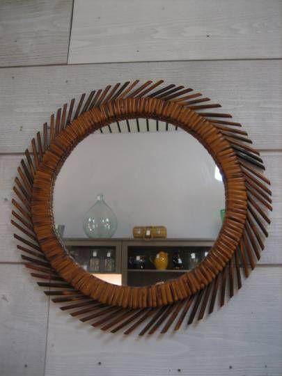17 meilleures id es propos de miroir en rotin sur for Ancien miroir soleil