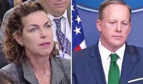 Sean Spicer shuts down hostile reporter when her 'question' turns out to be a rude insult
