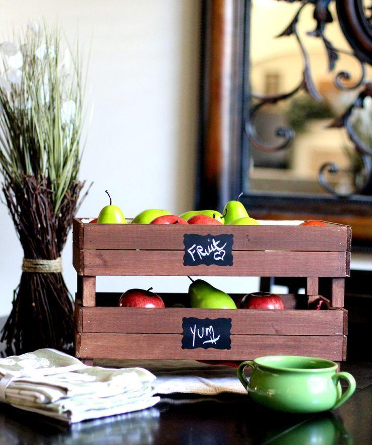 DIY Stackable Slatted Fruit Crates